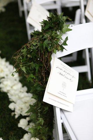 white-ceremony-programs-outdoor-ceremony