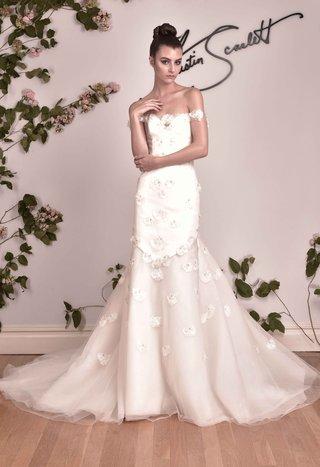 austin-scarlett-fall-2016-mermaid-wedding-dress-with-petals-and-flower-appliques
