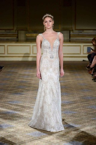 berta-fall-winter-2016-lace-wedding-dress-with-plunging-beaded-neckline