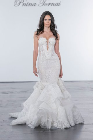 pnina-tornai-for-kleinfeld-2018-wedding-dress-mermaid-gown-lace-sequins-ruffle-skirt-flowers