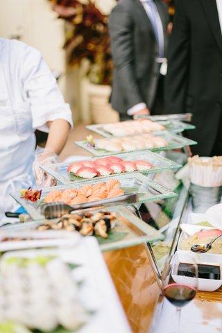 wedding-reception-catering-ideas-sushi-station-sashimi-station-food-stations-at-wedding