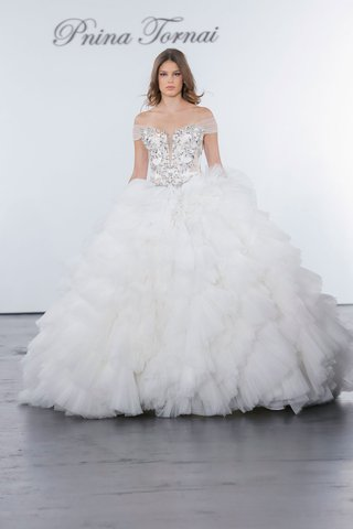 pnina-tornai-for-kleinfeld-2018-wedding-dress-ball-gown-ruffle-skirt-crystal-bodice-off-shoulder