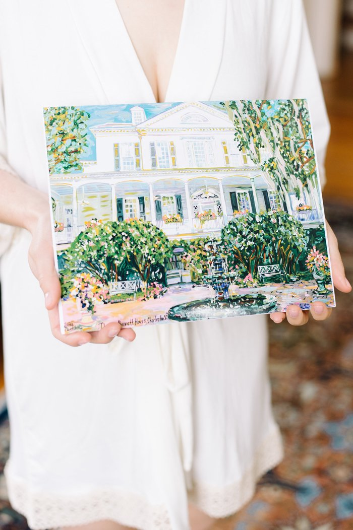 Painting of South Carolina Wedding Venue