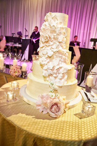 five-tier-buttercream-wedding-cake-with-cascading-petals