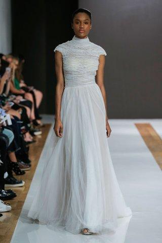 mark-zunino-spring-2018-wedding-dress-high-neck-short-cap-sleeve-bridal-gown-sheath-skirt