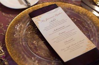 gold-and-white-menu-sit-down-menu-cultural-wedding-reception