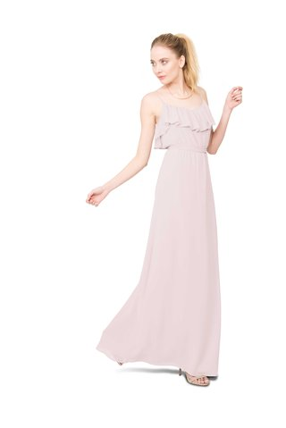 joanna-august-shuana-long-bridesmaid-dress-with-thin-straps-ruffle-neckline-in-light-pink