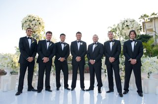 romain-zago-with-six-groomsmen-in-tuxes-and-bow-ties