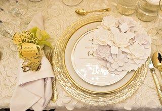 golden-rose-laser-cut-engraved-place-card-elaborate-paper-flower