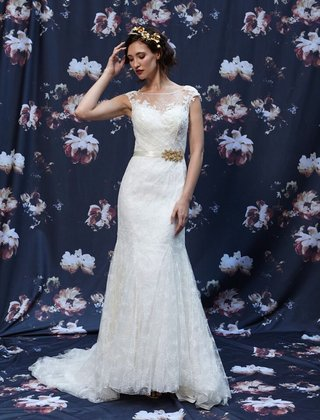 fit-and-flare-alencon-lace-wedding-dress-by-ivy-and-aster-fall-2016