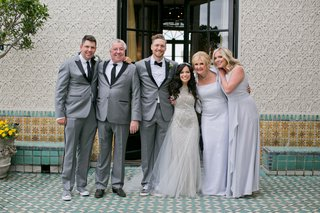 alexis-cozombolidis-and-hunter-pence-wedding-family-portrait-mother-father-brother-sister-of-groom