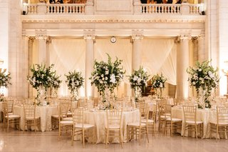 wedding-reception-at-the-old-courthouse-cleveland-classic-design-color-palette-greenery-gold-chairs