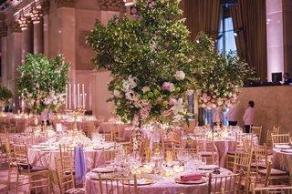 garden-wedding-at-cipriani-wall-street-tree-centerpieces