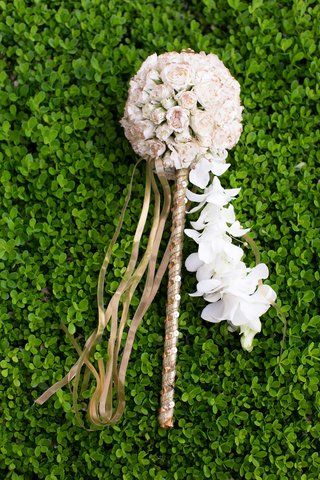flower-girls-gold-wand-topped-with-a-pomander-of-ivory-roses-and-cascading-orchids