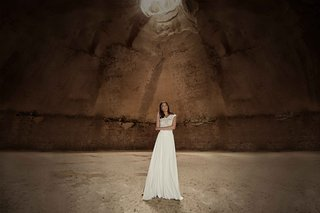 limor-rosen-2017-tribal-wedding-dress-blouson-bodice-a-line-chiffon-skirt-tribal-collection