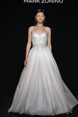 mark-zunino-for-kleinfeld-2016-strapless-a-line-wedding-dress-with-jewel-waistband