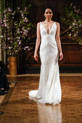 isabelle-armstrong-spring-2017-rusty-deep-v-neck-wedding-dress-with-stripe-details-embroidery-lace
