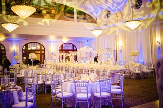 purple-lighting-on-white-linens-and-tables