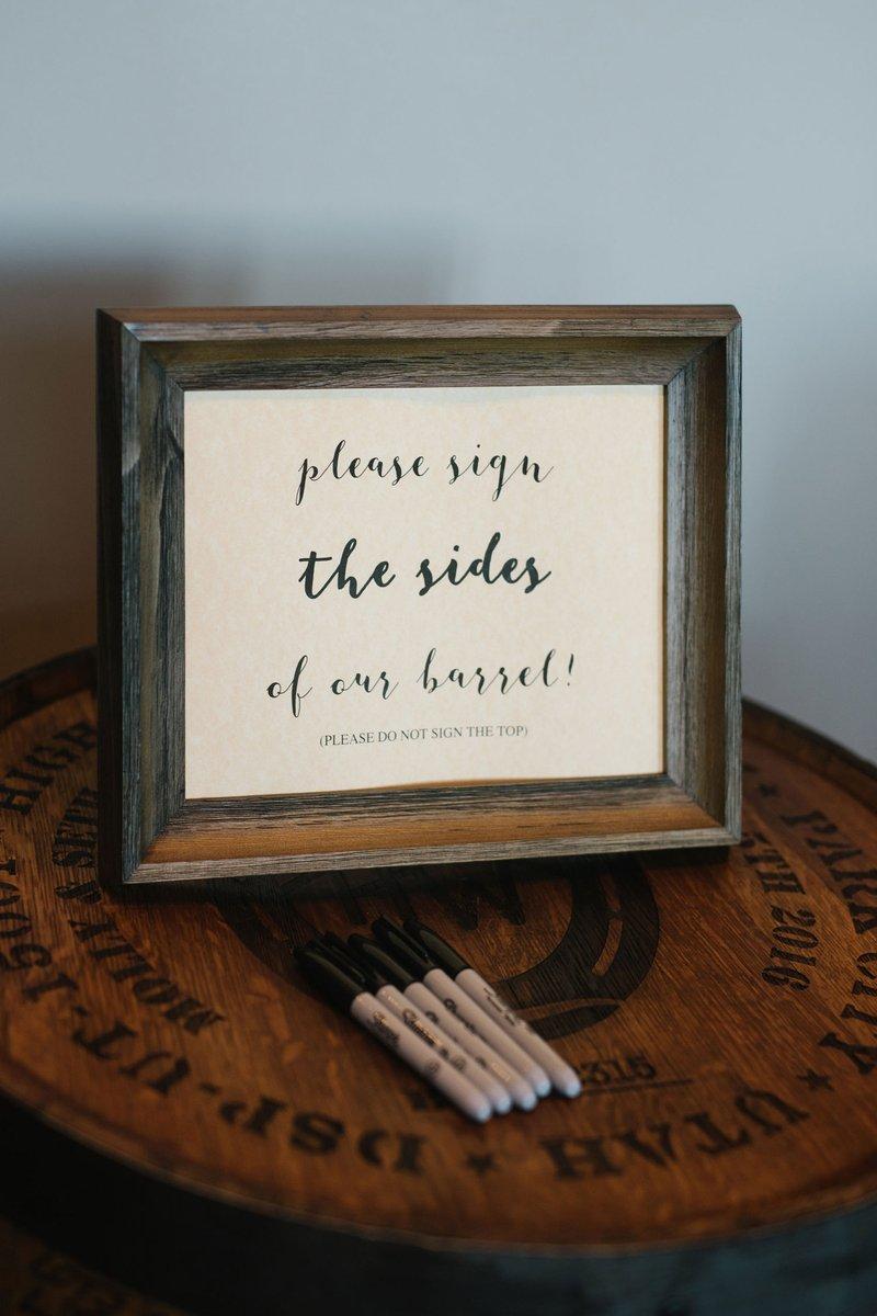 wedding guest book alternative whiskey barrel