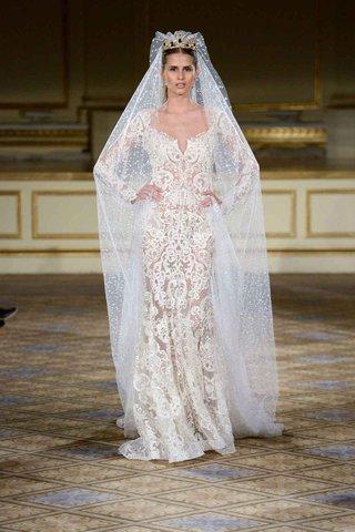 berta-fall-winter-2016-long-sleeve-sheer-lace-wedding-dress