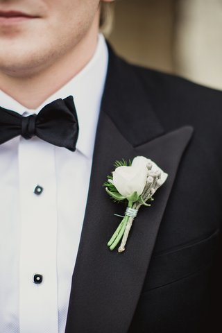 white-boutonniere-with-details-on-lapel-for-tuxedo