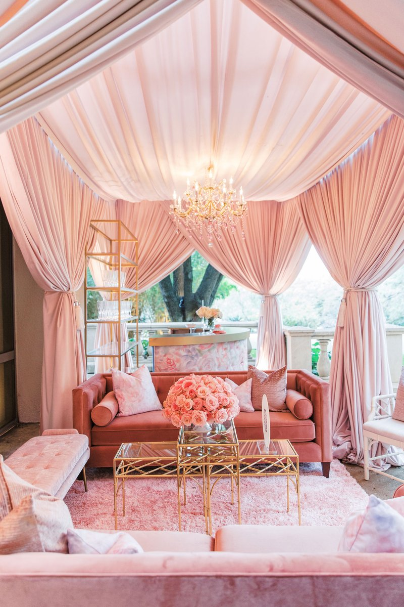 """""""Hers"""" Lounge Area at Wedding"""