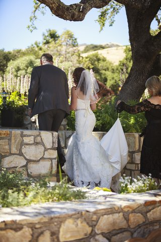 bride-in-a-strapless-essence-of-australia-lace-gown-beaded-sash-with-father-in-a-grey-suit