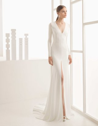rosa-clara-bridal-nestor-long-sleeve-v-neck-wedding-dress-front-slit-cutouts-at-shoulders