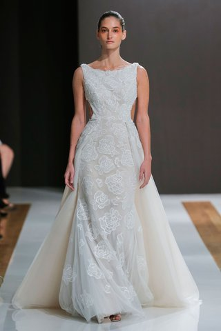 mark-zunino-spring-2018-wedding-dress-high-neck-boat-neck-bridal-gown-overskirt-sheer-side-cut-outs