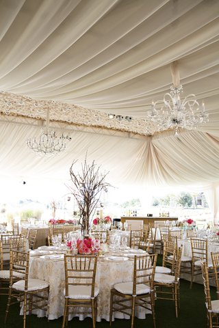 tented-wedding-reception-with-golden-chiavari-chairs