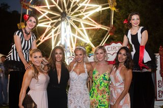 cj-lana-perry-with-famous-wedding-guests-at-circus-theme-wedding-ferris-wheel-and-circus-performer
