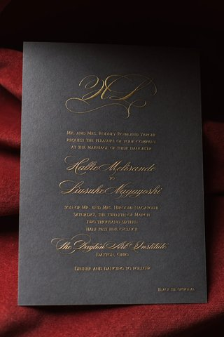 deep-hued-wedding-invitation-gold-writing-fancy-elegant-initials-dayton-ohio