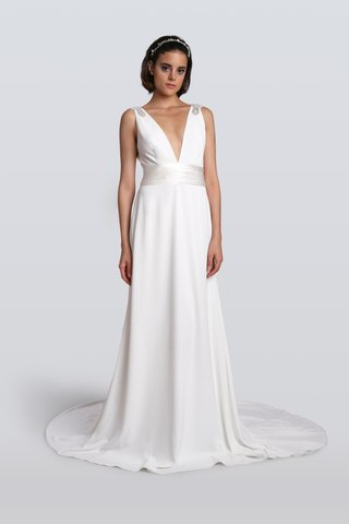 carmen-marc-valvo-fall-2018-grecian-wedding-dress-with-a-deep-v-neck-and-beading-on-straps