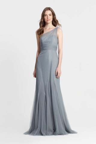 monique-lhuillier-bridesmaids-spring-2017-one-shoulder-blue-gown-godet-skirt-drape-bodice-long
