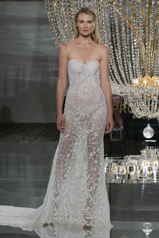 pronovias-fall-2018-strapless-sheer-wedding-dress-with-sweetheart-neckline-illusions-beaded-fabric