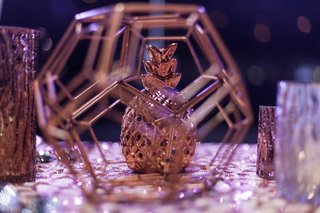 geometric-pineapple-tablescape-decor-fall-wedding-styled-shoot-shiny-sparkly-table-linens