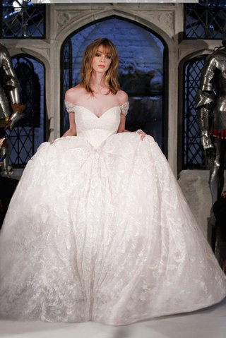 oleg-cassini-spring-2018-wedding-dress-classic-ball-gown-basque-waist-off-shoulder-sleeves-lace-bead