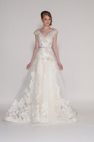 eugenia-couture-a-line-dress-with-a-v-neck-and-painted-roses-on-lace