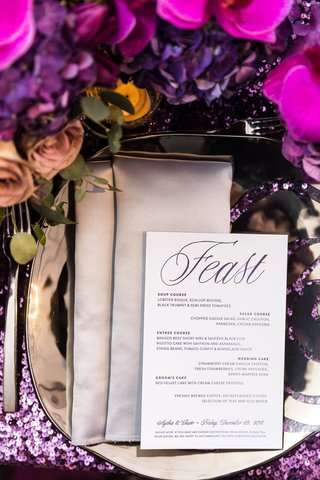 purple-sequin-linens-mirrored-charger-silver-napkins