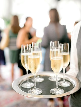 wedding-event-bridal-shower-champagne-sparkling-wine-on-silver-tray-passed-drinks