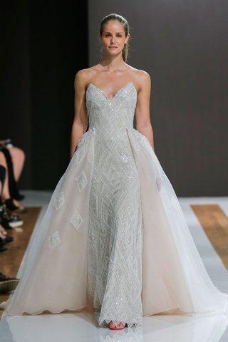 mark-zunino-spring-2018-wedding-dress-strapless-bridal-gown-sparkly-with-overskirt-diamond-design