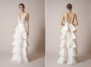 sachin-babi-spring-summer-2017-debut-bridal-collection-strapless-v-neck-beaded-bodice-tiered-skirt