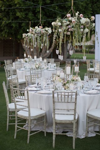 wedding-reception-with-pastel-floral-chandeliers-on-the-lawn-of-arizona-biltmore