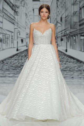 justin-alexander-spring-summer-2017-spaghetti-strap-beaded-wedding-dress-with-geo-print-a-line-skirt