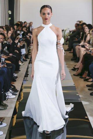justin-alexander-spring-2018-high-neck-fit-and-flare-gown-bow-back-designer-wedding-dress