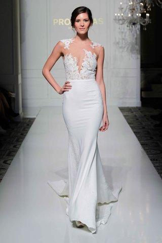 pronovias-2016-crepe-wedding-dress-with-illusion-lace-applique-bodice