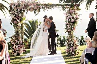 bride-in-anne-barge-groom-in-hugo-boss-bel-air-bay-club-wedding-ceremony-oceanview-chuppah-blush