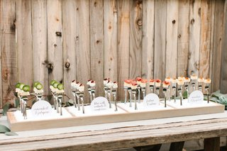 cheese-cubes-on-forks-for-wedding-appetizer