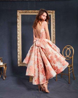 galia-lahav-couture-le-secret-royal-part-2-maddie-short-wedding-dress-pink-orange-brocade-with-bow