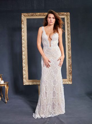 galia-lahav-couture-le-secret-royal-part-2-harper-wedding-dress-deep-v-plunging-neckline-scallops